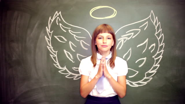 girl with an angel wings - angel stock videos & royalty-free footage