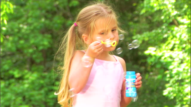 girl with bubbles - see other clips from this shoot 1428 stock videos & royalty-free footage
