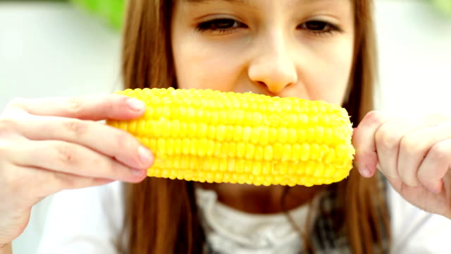 girl with corn