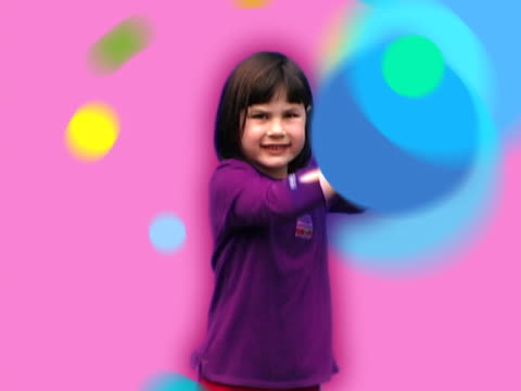 girl with moving dots - digital enhancement stock videos and b-roll footage