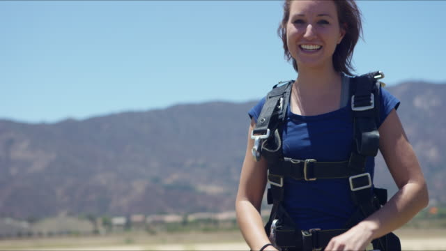 Girl With Pretty Smile After Her First Skydive
