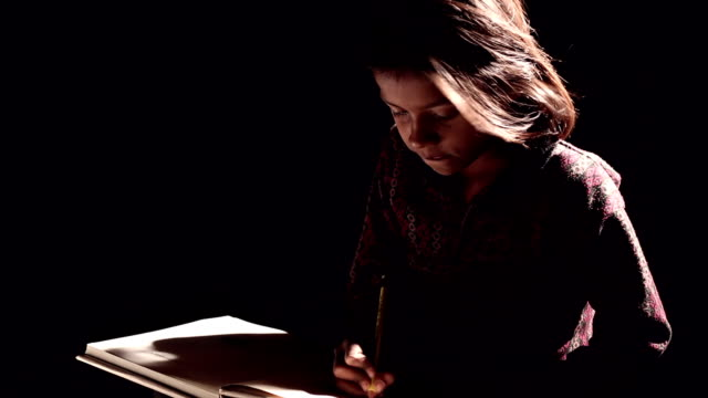girl writing on a book - writer stock videos & royalty-free footage
