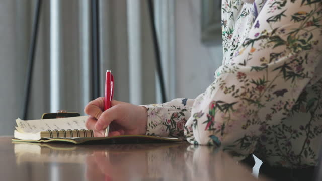 girl writing personal diary - intellectual property stock videos & royalty-free footage