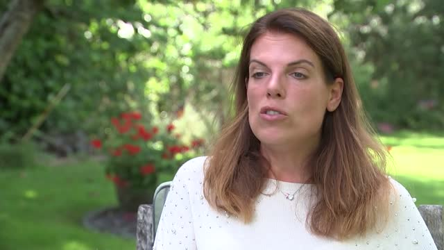 girlfriend of jack grealish says she's received barrage of abuse on social media; england: ext caroline nokes mp set-up shots and interview excerpt... - news not politics stock videos & royalty-free footage