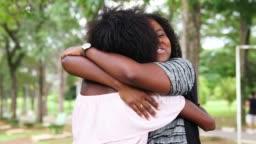 Girlfriends Embracing