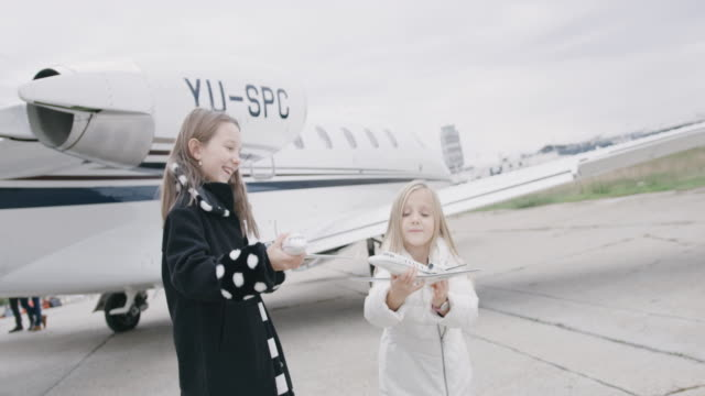 girls at the airport - corporate jet stock videos & royalty-free footage