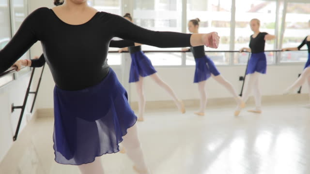girls ballet dancers in studio - small stock videos & royalty-free footage