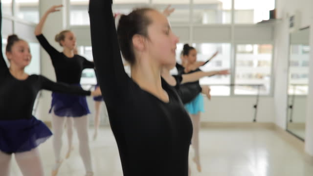 girls ballet dancers in studio - ballet dancer stock videos & royalty-free footage