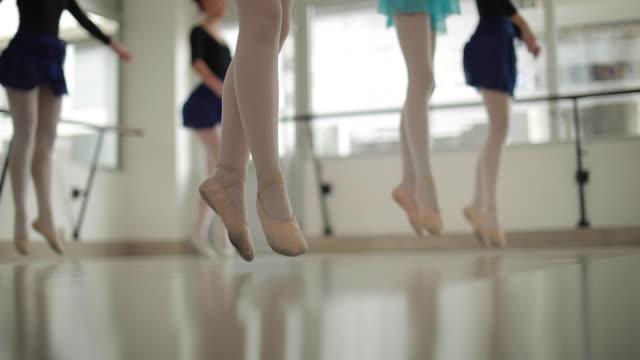 girls ballet dancers practicing in studio - ballet dancer stock videos & royalty-free footage