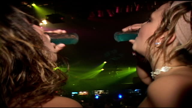 girls dirinking shots in cancun nightclub - 2006 stock videos & royalty-free footage
