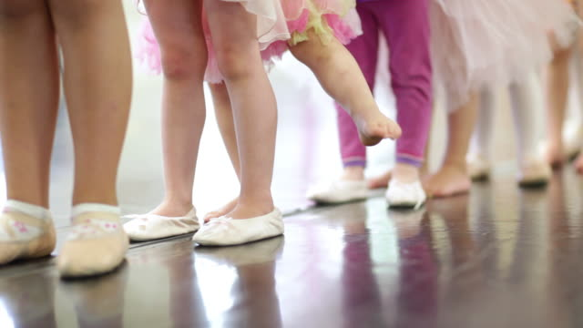 ms girls feet in ballet class  / lamy, new mexico, usa - ballet dancing stock videos & royalty-free footage