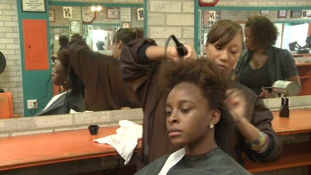 WGN Girls Getting Their Hair Done on August 24 2013 in Chicago Illinois