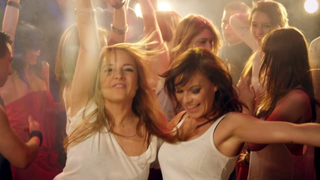 girls having fun in disco - disco dancing stock videos & royalty-free footage