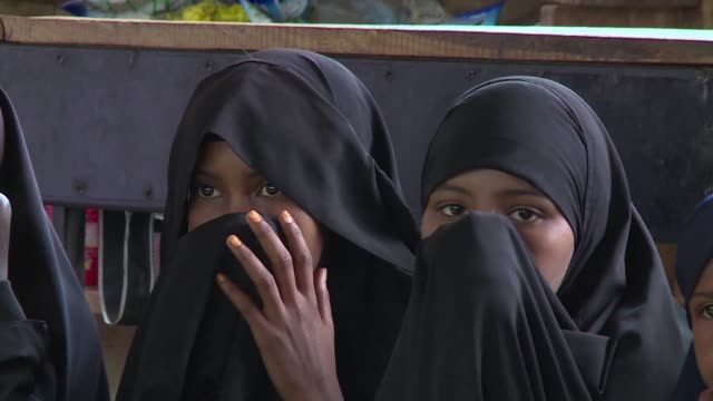 girls in kenya's tough arid north east are being encouraged to attend school rather than marry young - school child stock videos & royalty-free footage