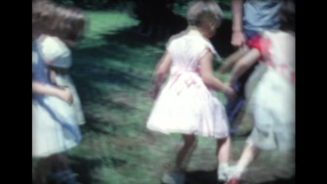 1961 girls in three legged race