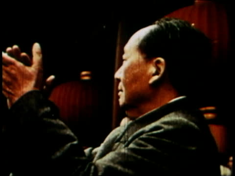 girls marching / mao tse-tung clapping / balloons and other released into the air - mao tse tung stock videos & royalty-free footage