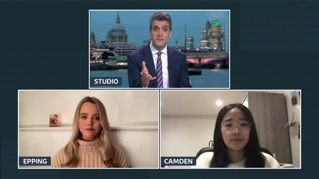 girls night in protests against spiking continues; england: london: gir: int ellie o'sullivan from epping and ophelia lieng from camden 3-way... - itv london tonight stock videos & royalty-free footage