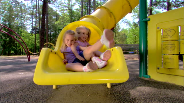 girls on a slide - see other clips from this shoot 1428 stock videos & royalty-free footage