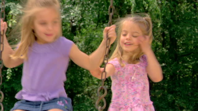 girls on a swing - see other clips from this shoot 1428 stock videos & royalty-free footage