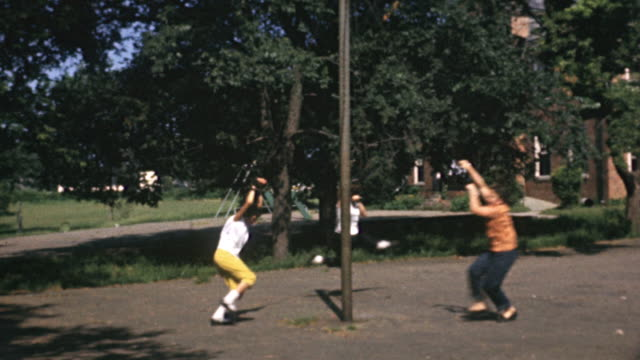 1956 ws girls playing on maypole / usa - only girls stock videos and b-roll footage