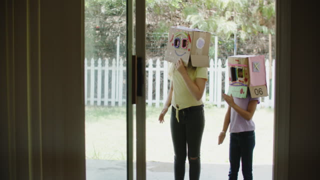 girls pretending they are robots - child stock videos & royalty-free footage