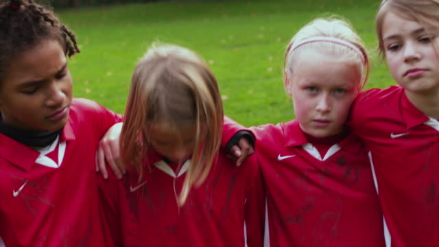 cu zi girls (10-11) soccer club after game lost / portland, oregon, usa - loss stock videos & royalty-free footage