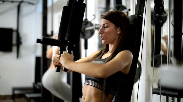 girls training hard - exercise equipment stock videos and b-roll footage