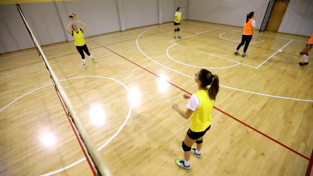 girls volleyball training - volleyball sport stock videos & royalty-free footage