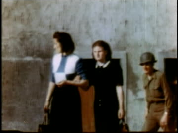 girls walking / soldiers pointing - weimar stock videos & royalty-free footage