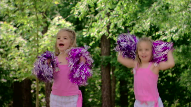 girls with pompoms - see other clips from this shoot 1428 stock videos & royalty-free footage