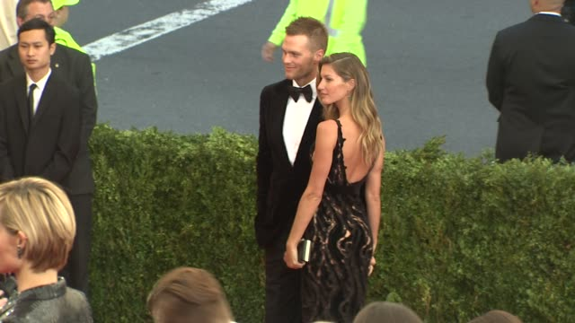 Gisele Bundchen and Tom Brady at Charles James Beyond Fashion Costume Institute Gala Arrivals at The Metropolitan Museum on May 05 2014 in New York...