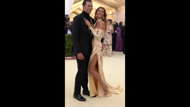 Gisele Bundchen and Tom Brady at Heavenly Bodies Fashion The Catholic Imagination Costume Institute Gala Alternative Views Social at The Metropolitan...