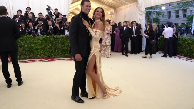 Gisele Bundchen and Tom Brady at Heavenly Bodies Fashion The Catholic Imagination Costume Institute Gala Alternative Views at The Metropolitan Museum...