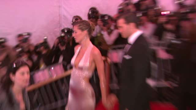 Gisele Bundchen and Tom Brady at the Superheroes Fashion and Fantasy Costume Institute Gala at The Metropolitan Museum of Art at the Metropolitan...