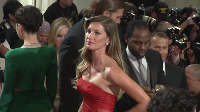 Gisele Bundchen at the 'Alexander McQueen Savage Beauty' Costume Institute Gala At The Metropolitan Museum Of Art at New York NY