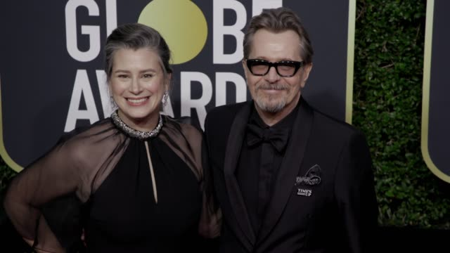 Gisele Schmidt and and Gary Oldman at the 75th Annual Golden Globe Awards at The Beverly Hilton Hotel on January 07 2018 in Beverly Hills California