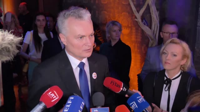 gitanas nauseda a centre right independent and political novice wins lithuania's presidential election in a race marked by low populist sentiment and... - lithuania stock videos and b-roll footage