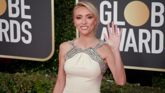 giuliana rancic at 76th annual golden globe awards - arrivals at the beverly hilton hotel on january 06, 2019 in beverly hills, california - 4k... - golden globe awards stock videos & royalty-free footage