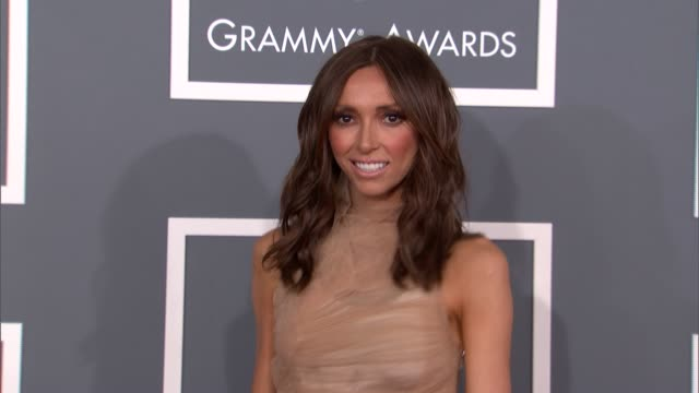 giuliana rancic at the 55th annual grammy awards arrivals in los angeles ca on 2/10/13 - grammy awards stock videos and b-roll footage