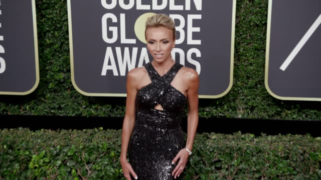 giuliana rancic at the 75th annual golden globe awards at the beverly hilton hotel on january 07, 2018 in beverly hills, california. - the beverly hilton hotel stock videos & royalty-free footage