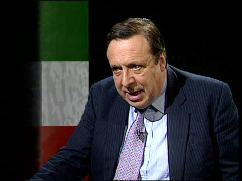 england london itn cms paolo della torre intvw sot now public opinion is much stronger against protection / andreotti doesn't have power he had in... - mafia stock videos and b-roll footage