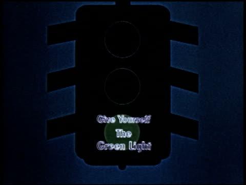give yourself the green light - 1 of 23 - altri spezzoni di questa ripresa 2165 video stock e b–roll