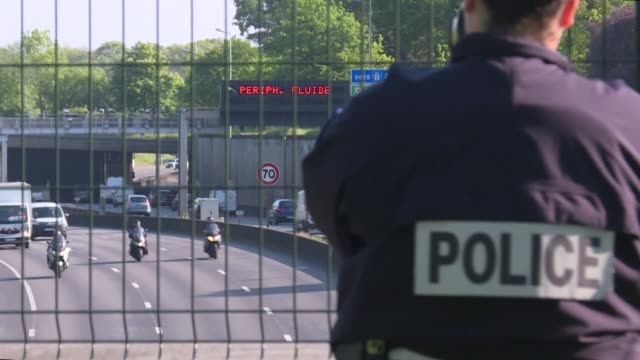 """vídeos de stock, filmes e b-roll de """"given that there are fewer people, people are driving a bit crazy,"""" laments french police major patrick bidault during a checkpoint operation on the... - major road"""