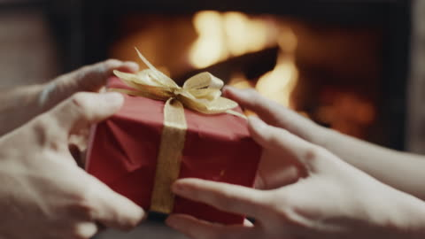giving a present! - two objects stock videos & royalty-free footage