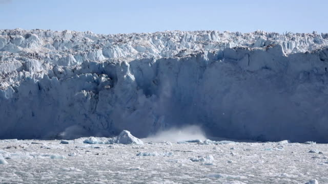 glacial ice avalanche part 1 - iceberg ice formation stock videos & royalty-free footage