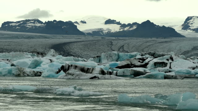 glacial lagoon time lapse - tide stock videos & royalty-free footage