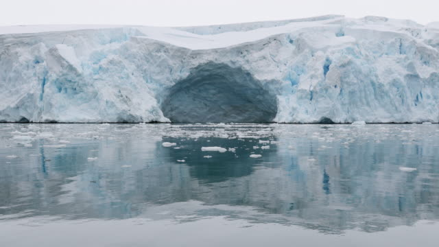glacier and ice floes - antarctic peninsula stock videos & royalty-free footage