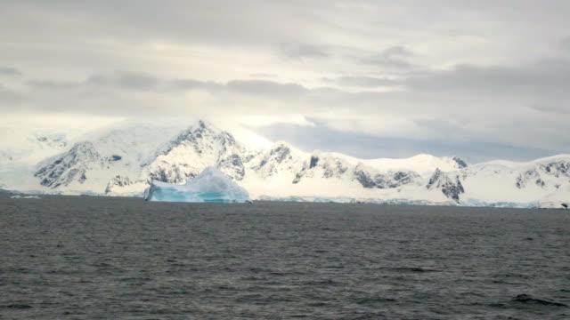 vidéos et rushes de glacier and landscape in antarctica - iceberg bloc de glace