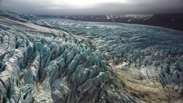 glacier at svalbard - glacier stock videos & royalty-free footage