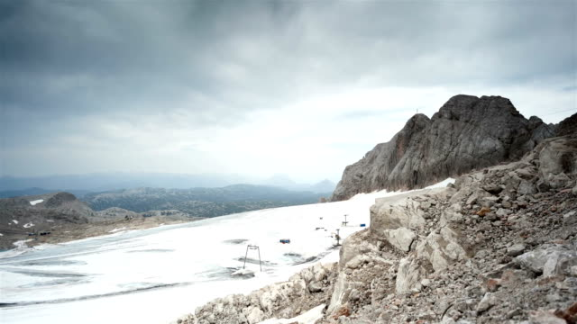 glacier at the dachstein; time lapse - dachstein mountains stock videos and b-roll footage